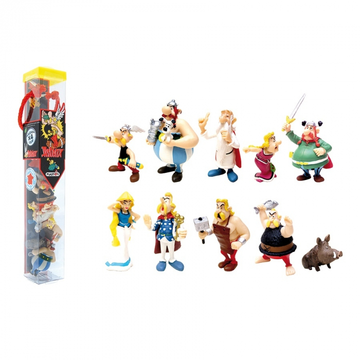 Collectible Series Tube of 10 figures Plastoy Astérix and Obélix (2015)