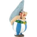 Figurine tirelire de collection Plastoy: Obélix portant un menhir 80040 (2014)