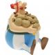 Figura hucha de colección Plastoy: Obélix sentado sesterces 80002 (2007)