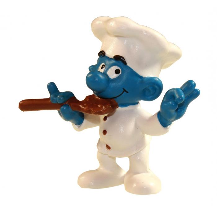 Figura Schleich® Los Pitufos - El Pitufo Jefe de cocina (21007)