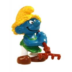 Figurine Schleich® Les Schtroumpfs - Le Schtroumpf jardinier 1982 (21009)