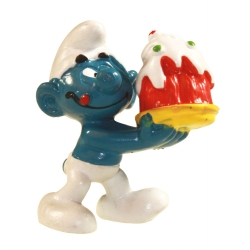 The Smurfs Schleich® Figure - The Smurf with cake 1977 (21023)