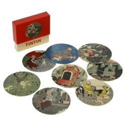 Set of 8 Tintin coasters Le Petit Vingtième 04356 (2016)