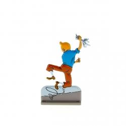Figurine en métal de collection Tintin sautant de joie Moulinsart 29211 (2011)