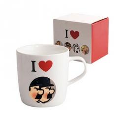 Taza mug de porcelana Tintín I Love Hernández y Fernández (47943)