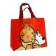 Sac imperméable rouge Tintin et Milou 45x38x12cm (04237)