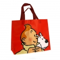 Sac imperméable rouge Tintin et Milou 45x38x20cm (04227)