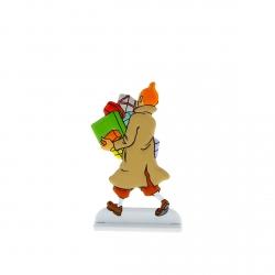 Figura metálica de colección Tintín cargado de regalos 29233 (2013)