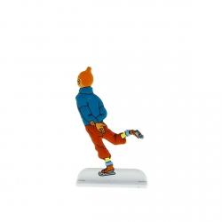 Collectible metal figure Tintin ice skating 29232 (2013)