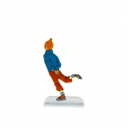 Figura metálica de colección Tintín práctica patinaje sobre hielo 29232 (2013)
