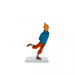 Figurine en métal de collection Tintin fait du patinage sur glace 29232 (2013)