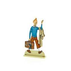 Figurine en métal de collection Tintin à la valise 29224 (2012)