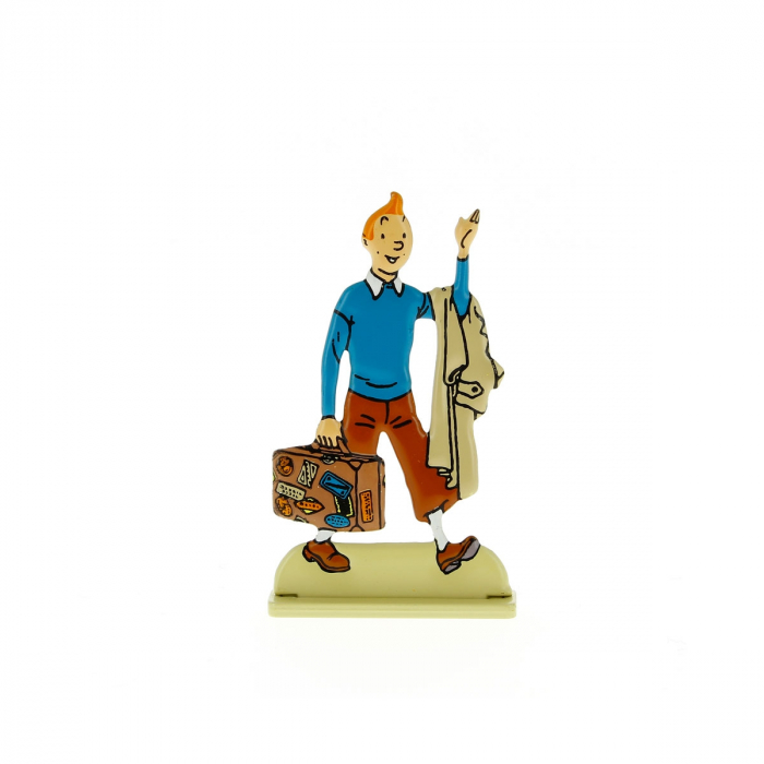 Collectible metal figure Tintin with his suitcase 29224 (2012)