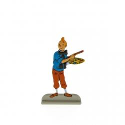 Figura metálica de colección Tintín pintando 29231 (2012)