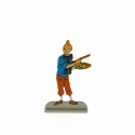 Figurine en métal de collection Tintin en train de peindre 29231 (2012)