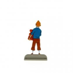 Collectible metal figure Tintin carrying bricks 29230 (2012)