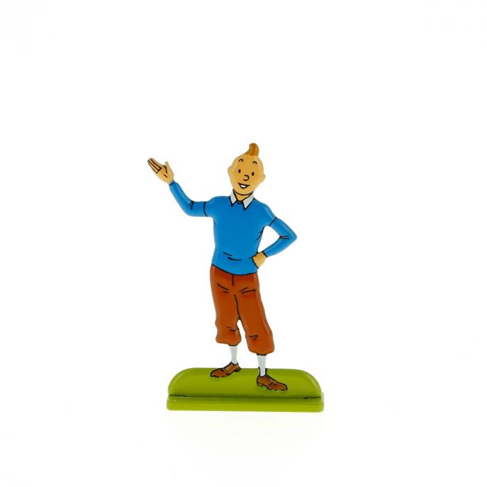 Figura metálica de colección Tintín se presenta 29228 (2012)