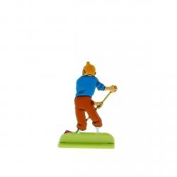 Collectible metal figure Tintin sweeping up 29227 (2012)