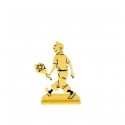 Collectible metal figure Tintin holding flowers 29226 (2012)