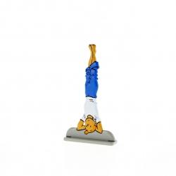 Collectible metal figure Tintin doing yoga 29220 (2011)