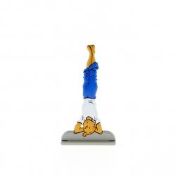 Figura metálica de colección Tintín hace yoga 29220 (2011)