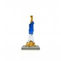Figurine en métal de collection Tintin fait du yoga 29220 (2011)