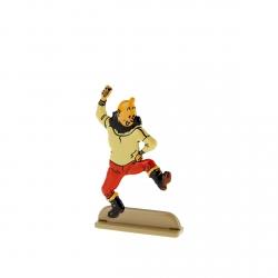 Figurine en métal de collection Tintin danse une gigue 29221 (2011)