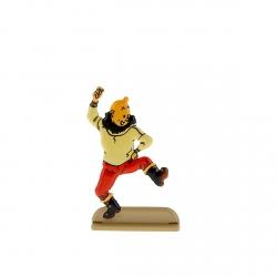 Figura metálica de colección Tintín bailaa una giga 29221 (2011)