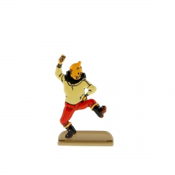 Figurine en métal de collection Tintin danse une gigue 29221 (2011)