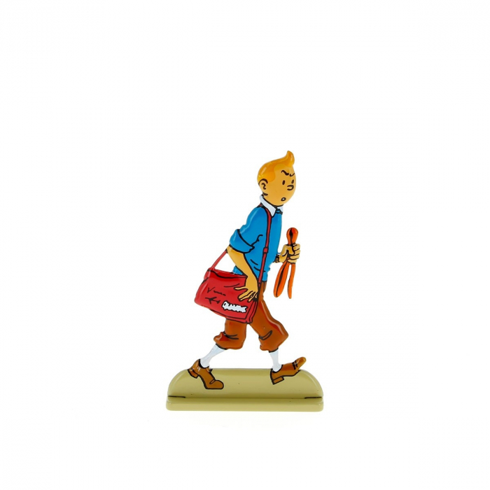 Figura metálica de colección Tintín mira con suspición 29219 (2011)