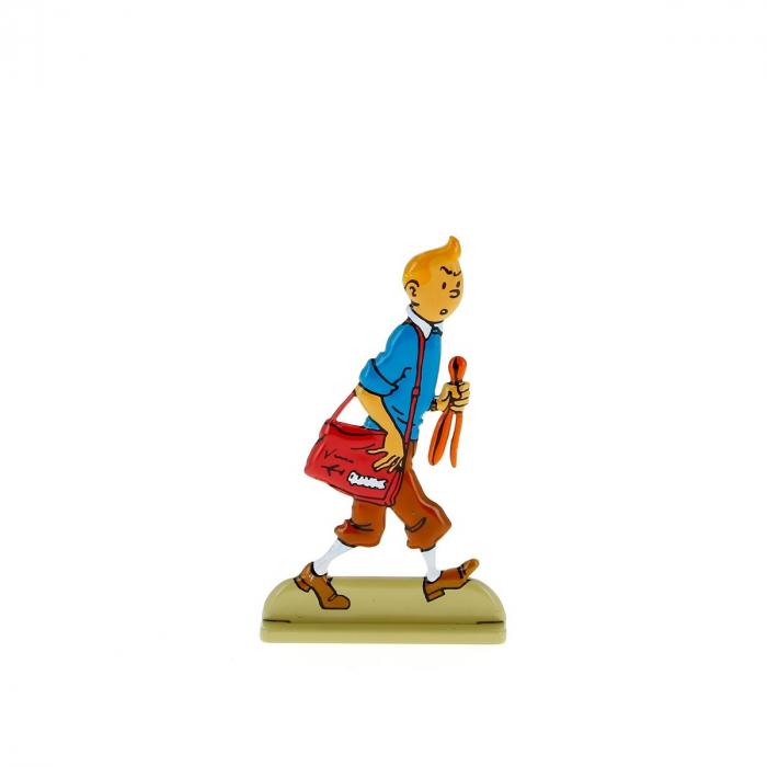 Figurine en métal de collection Tintin regarde avec suspicion 29219 (2011)