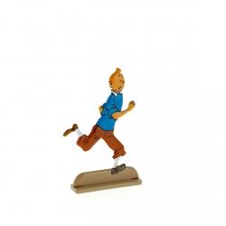 Figura metálica de colección Tintín corre con alegría 29218 (2011)