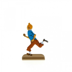 Collectible metal figure Tintin running happily 29218 (2011)