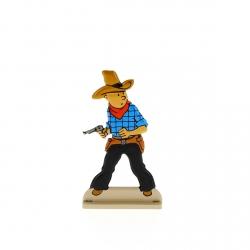 Figura metálica de colección Tintín saca su arma 29217 (2011)