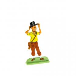 Figura metálica de colección Tintín llevando un sombrero 29213 (2010)