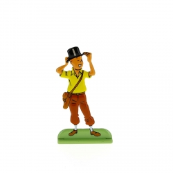 Figurine en métal de collection Tintin portant un chapeau 29213 (2010)