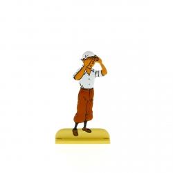Figurine en métal de collection Tintin scrute le désert 29214 (2012)