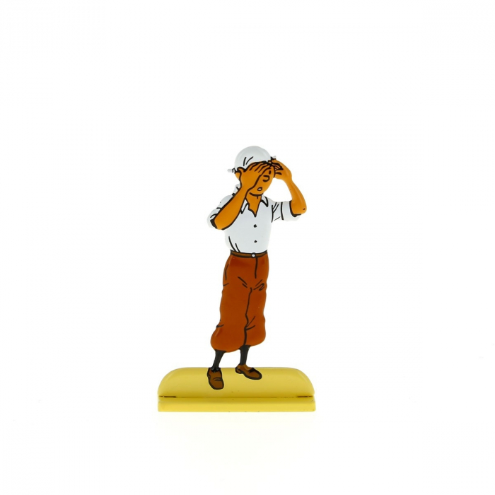 Collectible metal figure Tintin scans the desert 29214 (2012)
