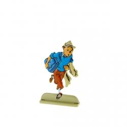 Figurine en métal de collection Tintin échappant à une patrouille 29212 (2010)