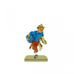 Collectible metal figure Tintin escaping from guards 29212 (2010)