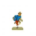 Figura metálica de colección Tintín escapando de una patrulla 29212 (2010)