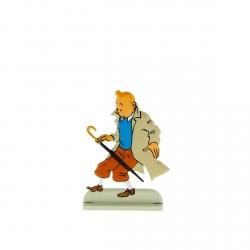 Figurine en métal de collection Tintin fait tomber son parapluie 29216 (2011)