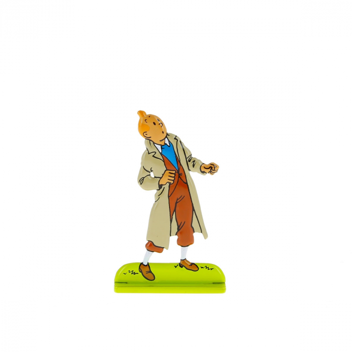 Collectible metal figure Tintin looking up 29210 (2010)