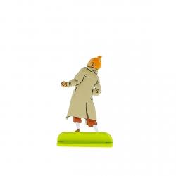 Collectible metal figure Tintin looking up 29210 (2010)