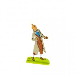 Figura metálica de colección Tintín mirando arriba 29210 (2010)