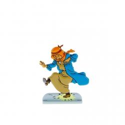Figura metálica de colección Tintín pisando un petardo 29209 (2010)