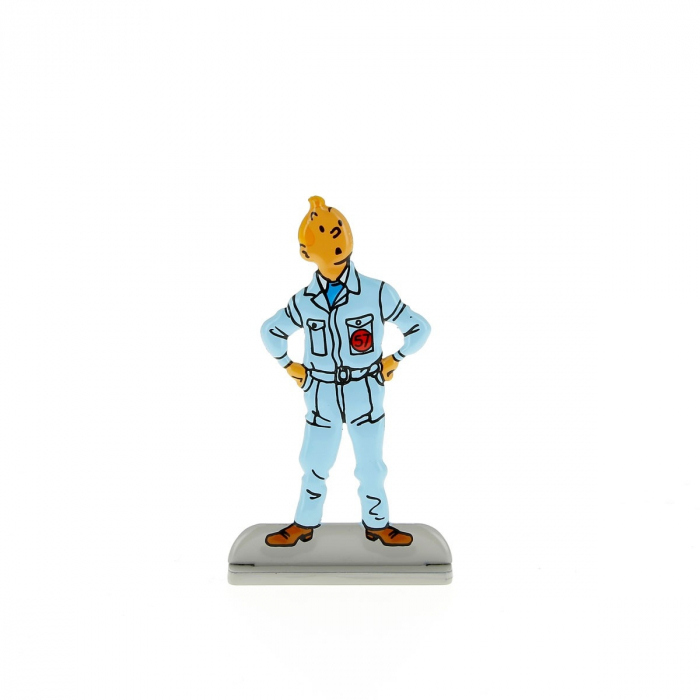 Collectible metal figure Tintin in boiler suit 29207 (2010)
