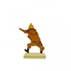 Figura metálica de colección Tintín en plena excitación 29205 (2012)
