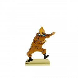 Collectible metal figure Tintin excited 29205 (2012)