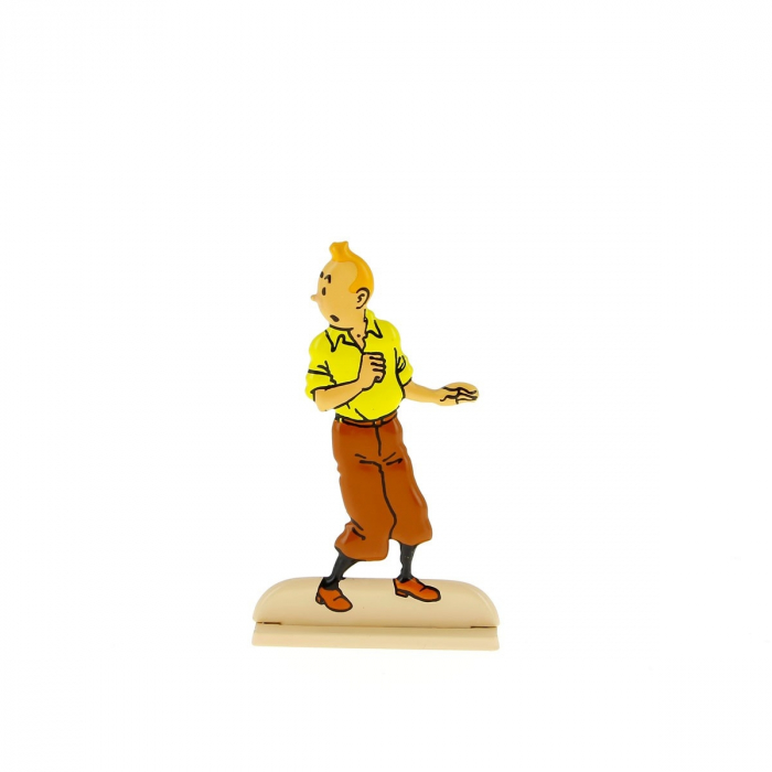 Figura metálica de colección Tintín dando una vuelta 29204 (2012)